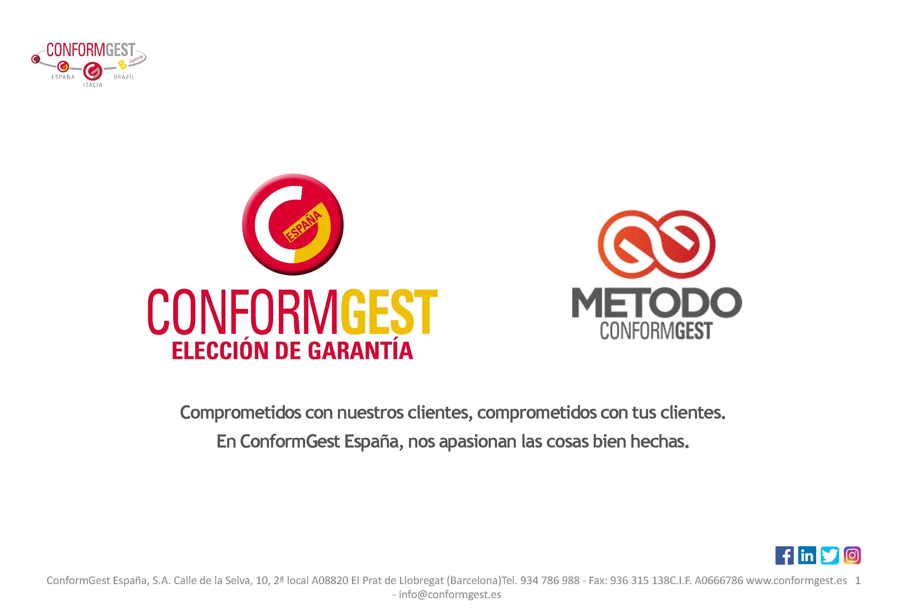ConformGest España Generando confianza.